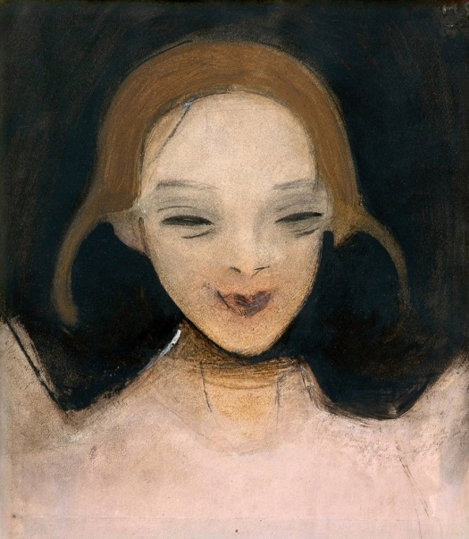 Smiling-Girl-1921-by-Helene-Schjerfbeck