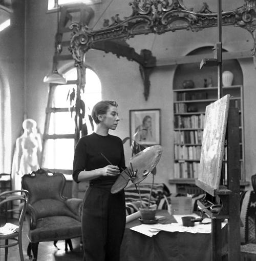tove-jansson-i-ateljé-1956